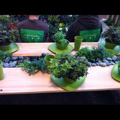 Picnic Table With Center Water Feature At Lokiu0027s Garden Booth At Des Moines  Home U0026 Garden