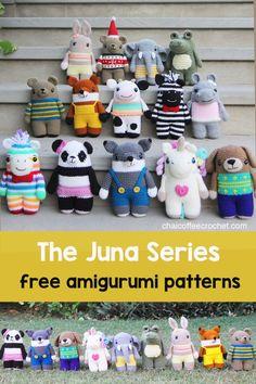 Crochet Amigurumi Free Patterns, Crochet Animal Patterns, Stuffed Animal Patterns, Stuffed Animals, Baby Girl Crochet, Crochet For Kids, Diy Crochet, Crochet Food, Crochet Ideas