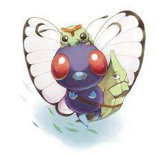 Caterpie, Metapod and Butterfree