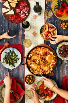 A Spanish fiesta of flavours. Just add Albarino, Cava and Rioja!  https://www.majestic.co.uk/food-and-wine-matching