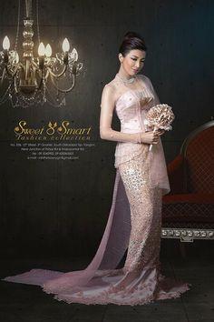 Beautiful rose gold wedding dress by Sweet &Smart