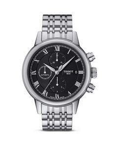 Tissot Carson Men's Black Automatic Chronograph Classic Watch, 42mm
