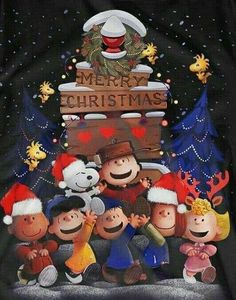 Charlie Brown Snoopy & The Peanuts Gang - Merry Christmas Merry Christmas Gif, Peanuts Christmas, Charlie Brown Christmas, Charlie Brown And Snoopy, Christmas Art, Christmas Greetings, Christmas Humor, Vintage Christmas, Christmas Thoughts