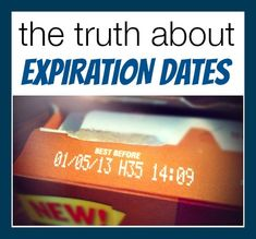 The dates you find on food labels can really be confusing. What many people believe, is that the date found on food is the date that they must throw the it