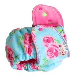 Roses Roses  Fitted Diaper - One-Size Luxury TURNED (knit)  - Candy Cotton Velour