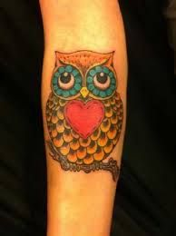simple owl tattoo design - Google Search