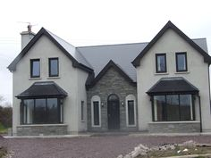 ICYMI: two storey house designs ireland Bungalow Haus Design, Bungalow House Plans, Dream House Plans, Bungalow Designs, Bungalow Renovation, House Designs Ireland, Cool House Designs, Modern House Design, Style At Home