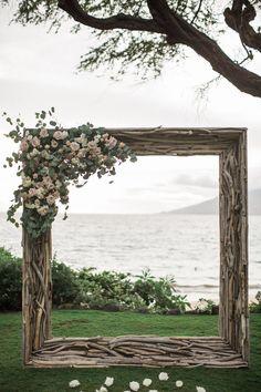Wedding Photography Hawaii Wedding Ceremony Inspiration - Photo: Chris J. Evans Photography - Wedding Ceremony Inspiration - Photo: Chris J. Mod Wedding, Fall Wedding, Wedding Ceremony, Rustic Wedding, Church Wedding, Wedding In Nature, Autumn Weddings, Wedding Arches, Whimsical Wedding