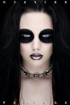 Black makeup on eyes