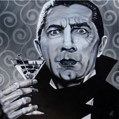 I Never Drink Wine by Mike Bell Dracula Martini Giclee Art Print (83 CAD) ❤ liked on Polyvore featuring home and kitchen & dining