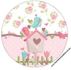 Rótulo-Latinhas-Toppers-e-Tubetes-Jardim-Encantado-Provençal Baby Shawer, Baby Box, Bird Clipart, Diy And Crafts, Paper Crafts, Bird Party, Paris Images, Bird Theme, Ideas Para Fiestas