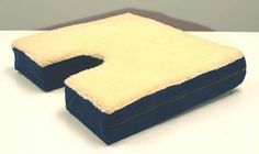 Coccyx Gel Seat Cushion w- Fleece Top 18 Wx16 D x 3