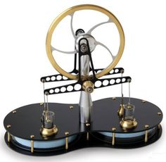 This is the Stirling engine that's powered by any heat source--even the palm of your hand.