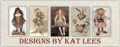 DESIGNS BY KAT - Feature Designer Kat Lees!  Beautiful website at http://designsbykat.blogspot.com/  Includes information on her Classes, Patterns and More!    A Featured Artist on http://clothdollconnection.com/ClothDollDesigners.html