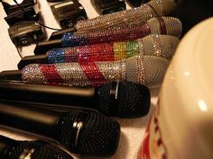 blinged out microphones