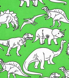 Snuggle Flannel Fabric Dino Sketch on Green Dinosaur Fabric, Cute Sketches, Nursery Inspiration, How To Make Pillows, Joanns Fabric And Crafts, Baby Knitting, Knitted Baby, Ribbon Bows, Cool Kids
