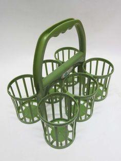 Flessenrek Curver groen, handig om bestek en sauzen op tafel te zetten hij de…