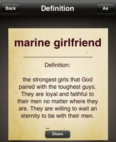 To all Marines' spouses! #usmc Im not Female. But, Yes i am a Marine spouce. & i like the pin{~: