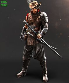 Samurai Cowboy, mars ... on ArtStation at https://www.artstation.com/artwork/samurai-cowboy