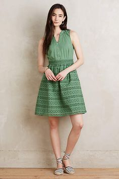 Eyelet Poplin Shirtdress
