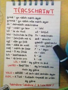 Textspeak as Gaeilge via Cathriona Mernagh ‏ · Class Rules Poster, Ancient Egypt Crafts, Gaelic Words, 6 Class, Math Sheets, Irish Language, Irish Warrior, Scottish Gaelic, Learning Support