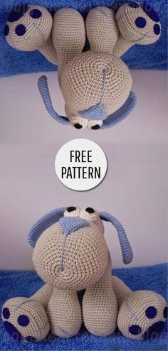 Mesmerizing Crochet an Amigurumi Rabbit Ideas. Lovely Crochet an Amigurumi Rabbit Ideas. Crochet Crafts, Crochet Dolls, Crochet Baby, Crochet Projects, Free Crochet, Crochet Dog Patterns, Amigurumi Patterns, Amigurumi Doll, Articles Pour Enfants