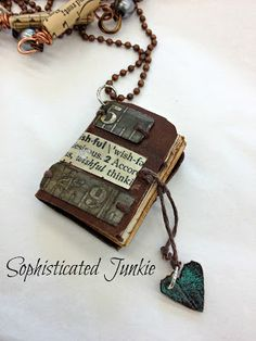 Sophisticated Junkie: Miniature Book Necklaces