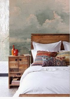 Wall Inspiration:  mural // clouded / art / watercolor