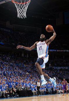 James Harden dunk, Oklahoma City Thunder