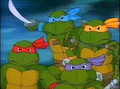 Teenage Mutant Ninja Turtles (heroes in a half shell - turtle power!)