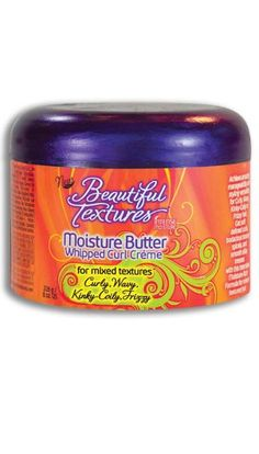 Moisture Butter Whipped Curl Creme   Helps to:   • Soften and Nourish Curls ~ Silken Waves  • Elongate Kinky Coils ~ Tame Frizzies  Dry, thirsty hair stunts natural growth. To help ensure locks reach their   full growth potential, refresh and hydrate your mixed textured hair   everyday with Moisture Butter.  Moisture Butter helps maximize the styling options of mixed textured hair   by helping achieve softer, more defined curls, healthier looking   coils, or simply silky- smooth hydrated hair.