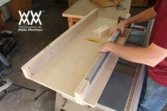 How to make a crosscut sled. Get perfect cuts every time on your table saw.