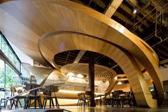 Design firm Enter Projects were asked to design the interior of the LOT 1 Cafe & Restaurant in Sydney, Australia.
