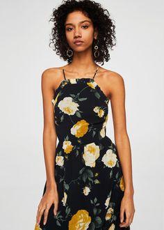 Floral chiffon dress | MANGO