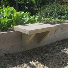 DIY Raised Bed Seat - Vegetable Gardener