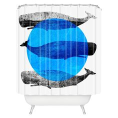 Splish splashhave a blast while taking a bath! The Elisabeth Fredriksson Whales Shower Curtain by DENY Designs is made from 100 woven polyester with buttonhole openings to hang it. Featuring a pop of art and vibrance, the Elisabeth Fredriksson Whales Shower Curtain by DENY Designs will have you turning that boring bathroom into one of the focal points of your home!