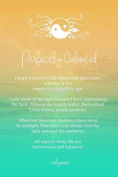 Affirmation - Perfectly Balanced by CarlyMarie