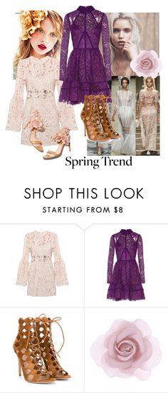 """""""Boho lace"""" by eereich on Polyvore featuring Été Swim, Elie Saab, Rupert Sanderson, Gianvito Rossi, Accessorize, women's clothing, women, female, woman and misses"""