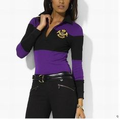 ... best price wholesale 2012 stripe ralph lauren long sleeves v neck women  polo shirts 42500 53d84 3c0bf9110