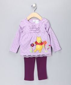 Take a look at this Purple Polka Dot Pooh Tunic & Leggings - Infant by Winnie the Pooh on #zulily today!