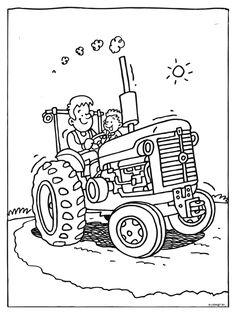 kleurplaat tractor traktor traktor