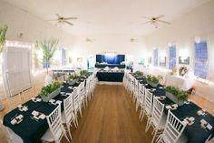 A lovely reception in the casual setting at Terra Nova Center in Cedar Mountain, NC.