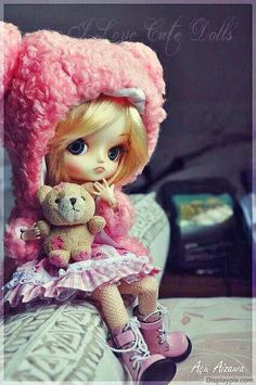 Image about girl in Kawaii dolls by Candy on We Heart It Teddy Bear Images, Teddy Bear Toys, Cute Teddy Bears, Cute Baby Dolls, Cute Babies, Pretty Dolls, Beautiful Dolls, Baby Doll Picture, Girl Dolls