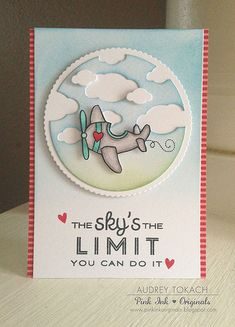 Audrey - The Sky's the Limit- PTI Scene-It: Skyscapes clouds with the backer.  So cute.