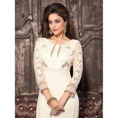 Eid Special Designer Off-White Georgette Palazzo Style Salwaar Suit-ASE636HYT ( ARTI-522 )Karishma