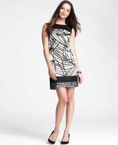 ANN TAYLOR | Graphic Sketch Sleeveless Dress | $138.00