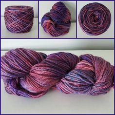 Passionate Plum, OOAK, Worsted Weight, 220 yards/100 grams, 100% Peruvian Highland Wool