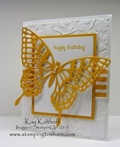 Stamping to Share, Kay Kalthoff, Butterfly Basics Bundle, And Many More, Spring Flowers, Butterfly Thinlits, Stampin' Up!, How To Video