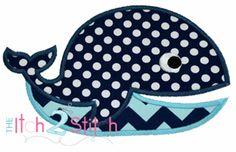 Whale 2 Applique