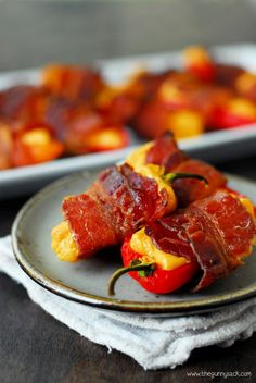 Spicy Bacon Wrapped Sweet Peppers are an easy appetizer to make when entertaining for the holidays. Everyone will love the combination of flavors.